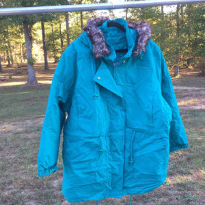 Woman Within 2 in 1 quilted Fur hood Parka 02